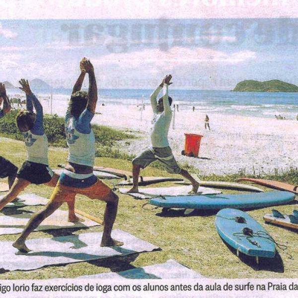 Yoga Surf School mencionado em matéria de Jornal