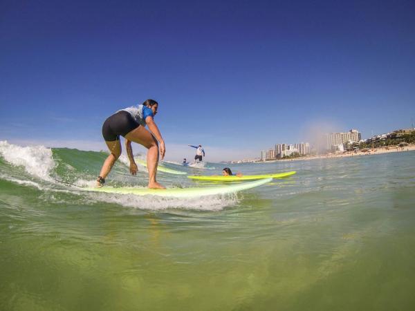 Pondo em prática as aulas de Surf