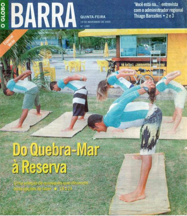 Yoga Surf School é capa da revista Rio Barra