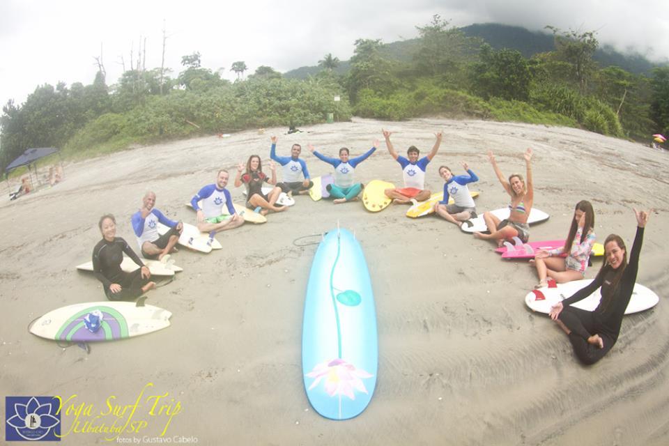 Tudo pronto para o Surfe na Praia de Ubatuba
